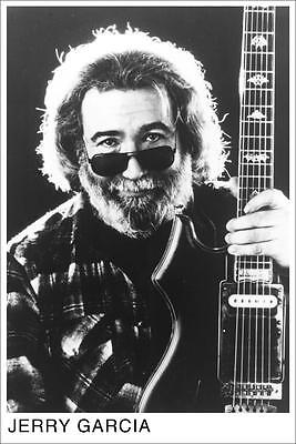 """Jerry Garcia with Guitar Photo Poster  24"""" x 36"""" Grateful Dead"""