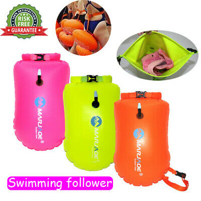 Waterproof Swim with Waist Buoy Safety Inflatable Floating Dry Bag Pouch 20L