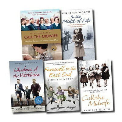 Jennifer Worth 5 Books Collection Set,Call The Midwife,In the Midst of Life NEW