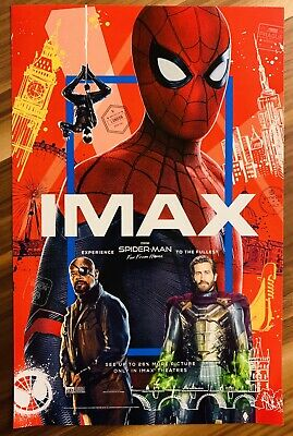 """SPIDER-MAN: FAR FROM HOME Official Movie 11"""" x 17"""" PREMIERE NIGHT IMAX Poster"""