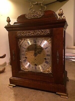 Smiths 1930s Antique Bracket Clock- Westminster Chime. Works Perfectly