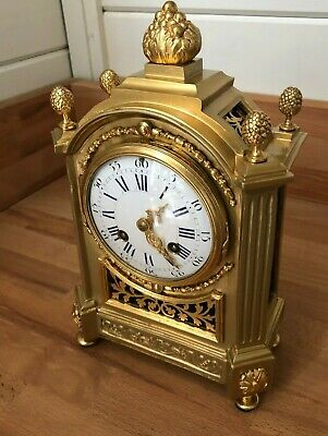 Japy Freres French Mid 19th Century Gilt Brass Mantel Clock ~ Blanpain of Paris
