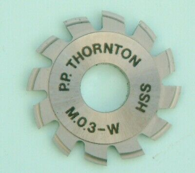 Clockmakers P P Thornton Wheel Pinion Cutter Tool Thorntons Wheel Cutters MO.3-W