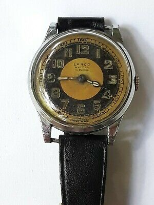Vintage LANCO Ancora Antique 15 Jewels Swiss Two-Tone Dial