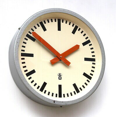 EAST GERMAN 1960s Eastern Bloc Midcentury Retro Vintage Industrial Wall Clock