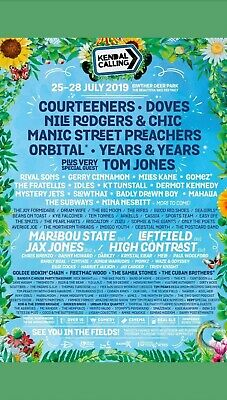 Kendal Calling 2019. 2 x Adult Emperors Field Tickets IN HAND!!
