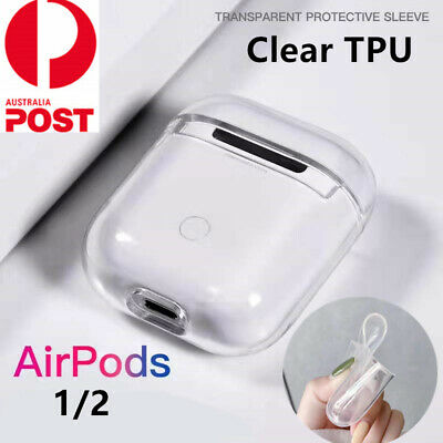 Shockproof For Apple Airpods Airpod Case Cover Clear Transparent Skin TPU Holder