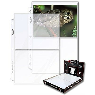 2-Pocket 5 x 7 inch Photo or Postcard Page x 100 Page Box