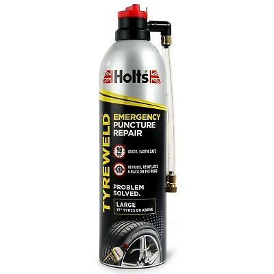 Holts Tyreweld Puncture Repair Emergency Car Van Motorcycle Flat Tyre Kit 500ml