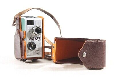 Old AK8 Narrow Film Camera 8mm with Zeiss Jena with Leather Bag Old Vintage