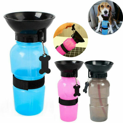 500ml Portable Pet Dog Water Bottle Travel Cup Drinking Bowl Dispenser Feeder/