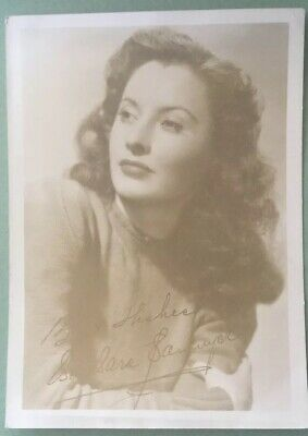Barbara Stanwyck.    Vintage. Signed  Photograph.