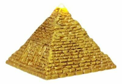 "Resin Ancient Egyptian Giza Golden Pyramid Figurine With LED Night Light 3.25""L"