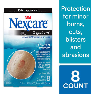 Nexcare™ Tegaderm™ Waterproof Transparent Dressing, H1624, 2-3/8 in x 2 3/4 in