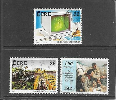 "Stamps: Ireland 1985 "" Innovation ""  Set Of 3 (F/Used)"