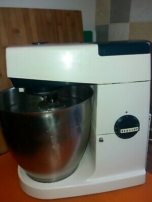 KENWOOD CHEF X Large COMMERCIAL+2 Stainless Steel Bowls+1 Cream & 3 Attachments