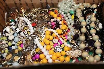 Huge Junk Drawer 13 Lbs Pounds Mixed Jewelry Lot Mismatched/Broken Crafts Repair