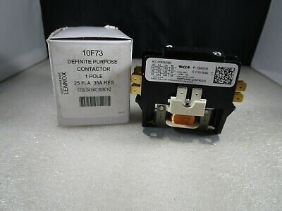 NEW Lennox Armstrong 10F73 Contactor SPST 1 Pole 24V Relay 100438-04
