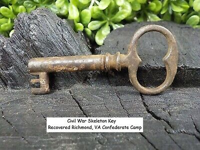 Old Rare Vintage Antique Civil War Relic Skeleton Key Recovered Confederate Camp