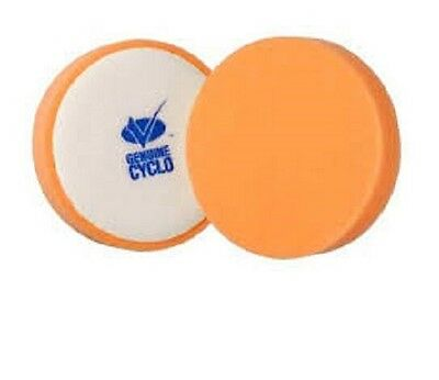"Cyclo 4"" Orange  Foam Paint/Metal Deox, Compounding and Polish Pads, Pair"