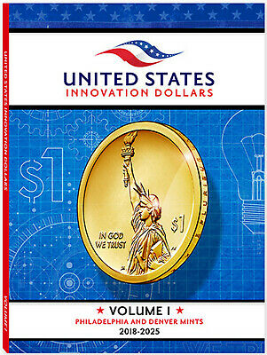 Whitman 4712 Innovation Dollar Collector's Folder Volume 1 P & D Mints