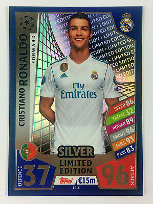 2017 2018 TOPPS MATCH ATTAX CHAMPIONS LEAGUE Silver Limited Edition * Ronaldo