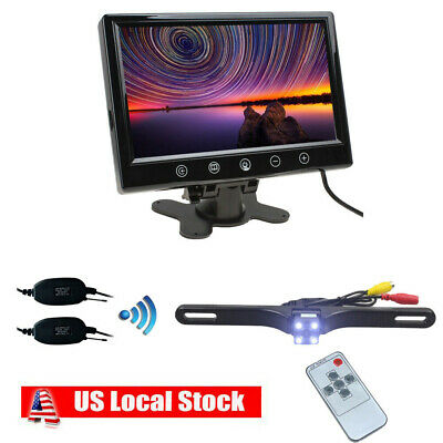 "9"" Monitor Screen For DVD GPS+ Wireless Car Back Up Rear View camera Night View"