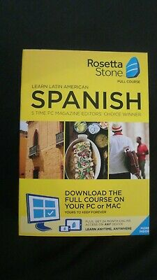 GENUINE Rosetta Stone Full Course Learn Latin American Spanish + 24 Month Access