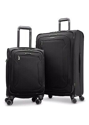 Samsonite Explore Eco 2-piece Softside Set Carry-On Luggage Black