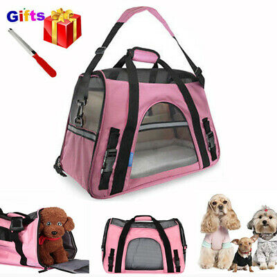 Pet Carrier w/ Separate Pad Soft Sided Large Cat Dog Comfort Travel Bag Approved