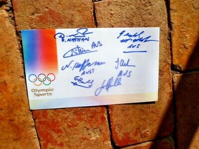 Australian Fencing Team Signed 2000 Sydney Olympics Cover 7 Signatures