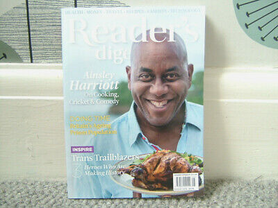 August 2019 Readers Digest Magazine - ainsley Harriott - Doing Time - *Free P&P*
