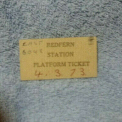 #D400. 1973 Redfern Railway Station  Platform   Ticket