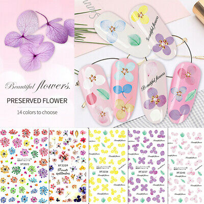 Full Wraps Nail Stickers 3D Adhesive Decals Tattoo Tips Manicure Decoration