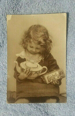 Bushells Tea Advertising Postcard - Young Girl With Tea & Pot