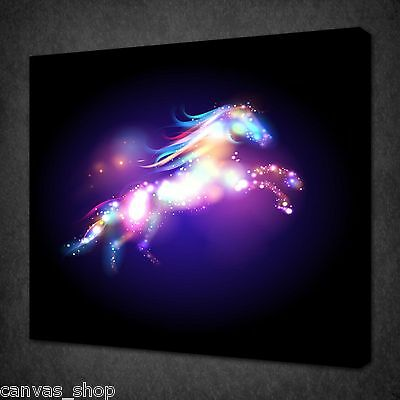 Fantasy Cartoon Horse Abstract Wall Art Picture Canvas Print Ready To Hang