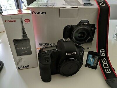 Canon EOS 6D 20.2MP DSLR + Battery + Charger + Strap + Box (6000 Shutter Count)
