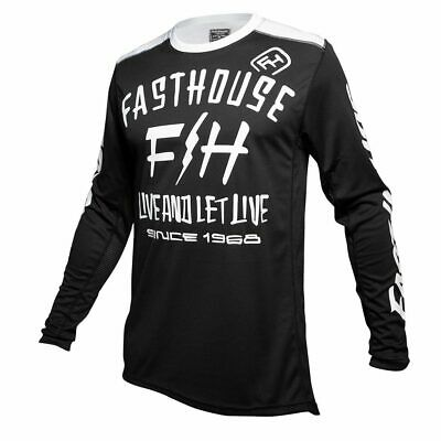 Fasthouse Dickson Motocross MX Race Jersey Black Adult