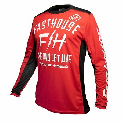 Fasthouse Dickson Motocross MX Race Jersey Red Adult