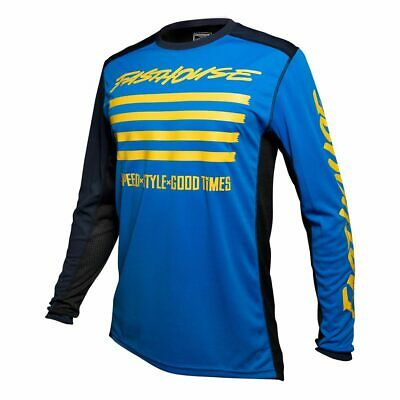 Fasthouse Slash Motocross MX Race Jersey Blue Yellow Adult