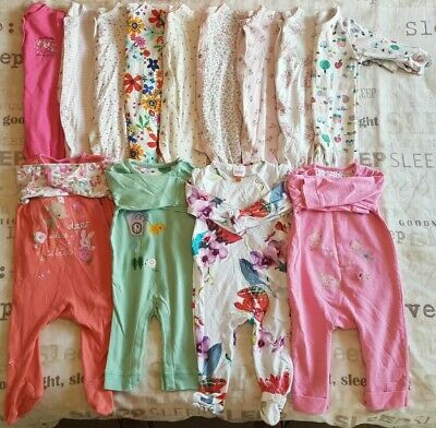 Girls Sleepsuits Bundle 6-9 Months Next Ted Baker Mothercare M&S Primark Etc