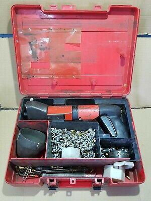 Hilti DX600N Powder Actuated System Nail Gun Stud Gun + Case, Extras