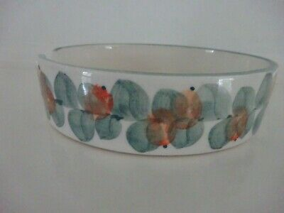 Small Dainty Jersey Pottery Pin Dish or Ashtray - Hand Painted