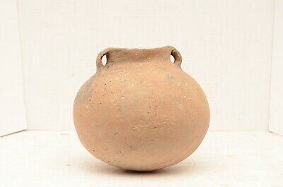 Ancient Native American Indian Pottery Caddo Lrg Bowl Clay jug bottle atq VTG