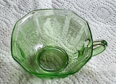Vintage Anchor Hocking Princess Green Tea Cup, Depression Glass. (Flo).
