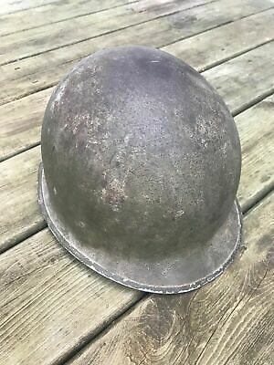 WWII US NAVY Gray Paint M1 Helmet Front Seam , Fixed Bale