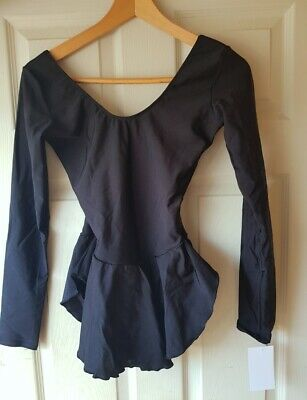 New Womens Black Ice Skating Training Or Competition Dress Size Medium Or 8-10