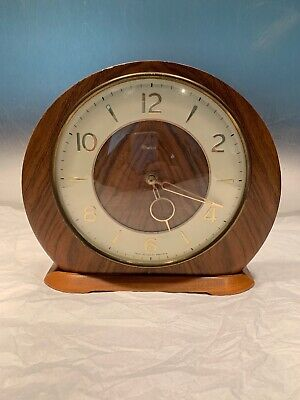 Vintage Smiths Wind Up Mantal Wodden Clock