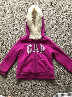 Girls Gap Hoody With Fur Hood 3yrs