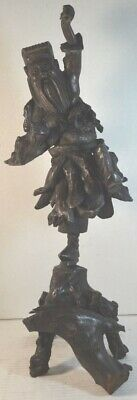 Antique Chinese Carved Wood Root  Sculpture